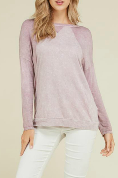 Shoptiques Product: LONG SLEEVE MINERAL WASHED TOP