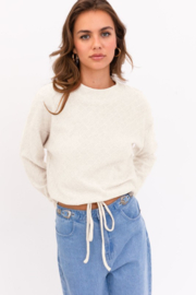 Le Lis Long Sleeve Mock Neck Texture Knit Top - Front cropped
