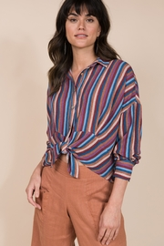 Ivy Jane  Long Sleeve Multi Stripe Button Up - Front cropped