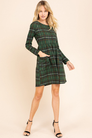 Gilli  Long Sleeve Plaid Dress - Product Mini Image