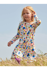 Tea Collection  Long Sleeve Pocket Dress - Swedish Floral - Front full body