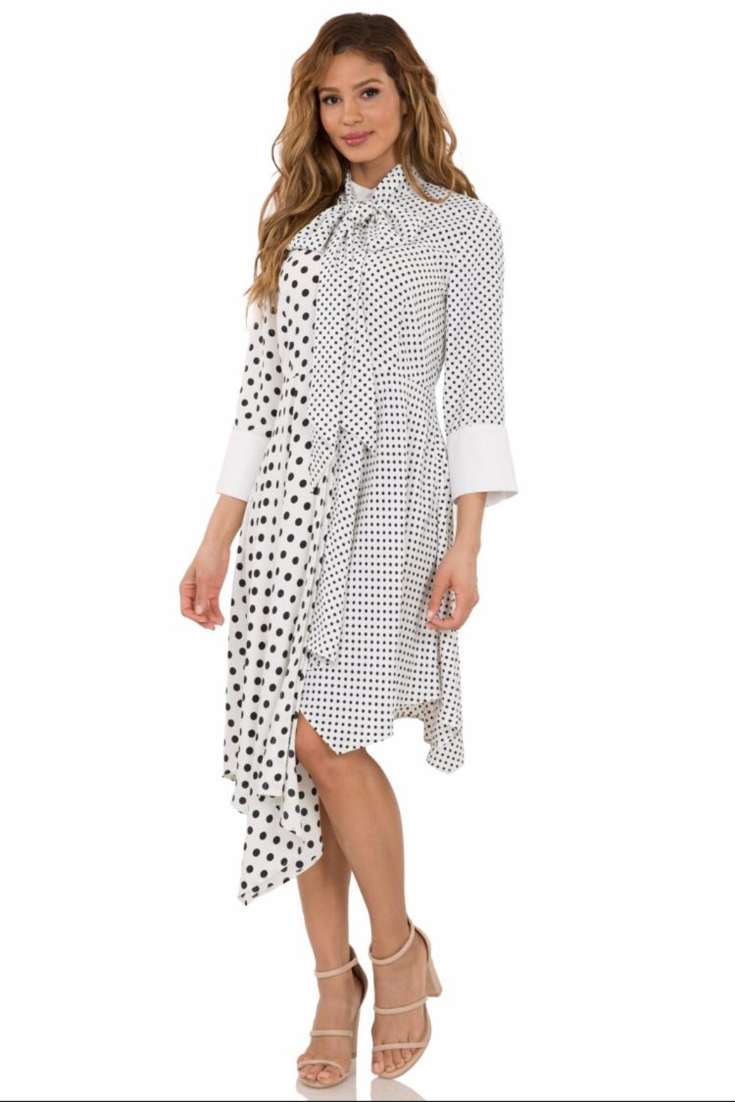 81a96a0b317 cq by cq Long-Sleeve Polkadot Dress from Los Angeles by Chikas ...