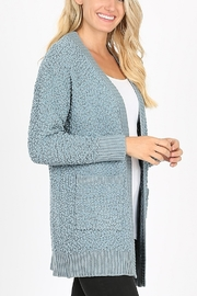 Lyn -Maree's Long Sleeve Popcorn Sweater - Front cropped
