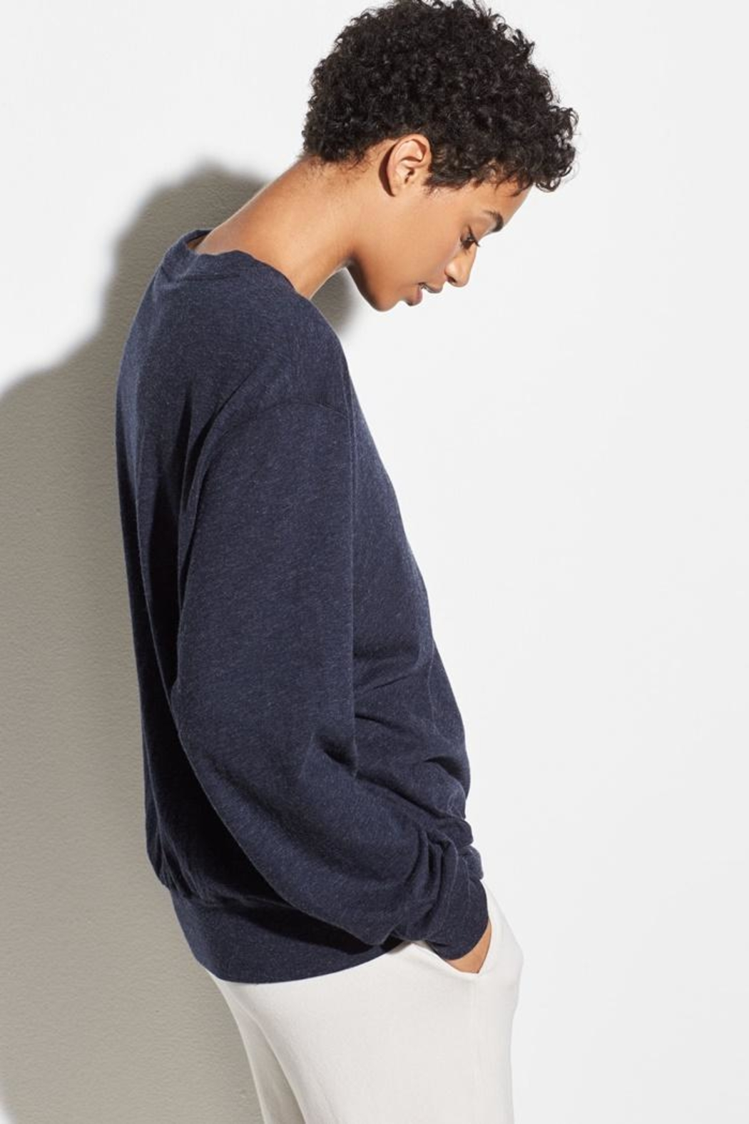 Vince Long Sleeve Pullover - Back Cropped Image