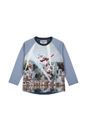Paper Wings Long Sleeve Raglan K Rock Shirt - Product Mini Image