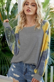 lily clothing Long Sleeve Raglan Tie Dyed Top - Product Mini Image