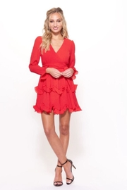 Selfie Leslie Long-Sleeve Red Dress - Product Mini Image