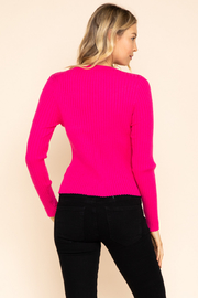 Gilli  Long Sleeve Ribbed Top - Back cropped