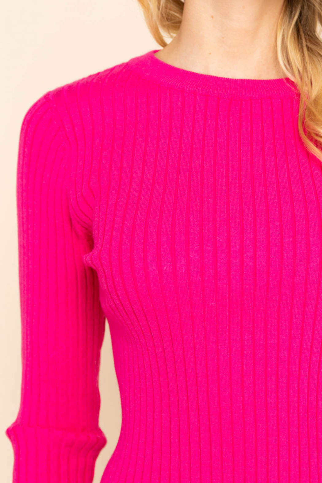Gilli  Long Sleeve Ribbed Top - Front Full Image