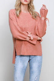 Mustard Seed Long Sleeve Ribbon Sweater - Product Mini Image