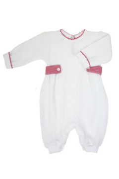 Paty Inc Long Sleeve Romper with Gingham Side Tabs - Alternate List Image