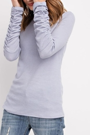 easel Long-Sleeve Ruched Top - Product Mini Image