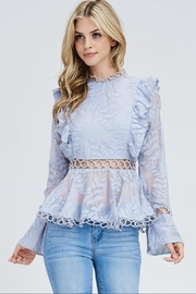 the clothing company Long-Sleeve Ruffle Top - Product Mini Image