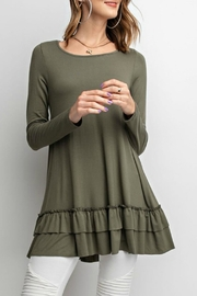 easel Long-Sleeve Ruffle Tunic - Product Mini Image
