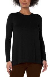 Liverpool  Long Sleeve Scoop Top - Product Mini Image