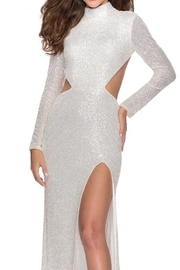 La femme Long Sleeve Sequin Gown - Product Mini Image