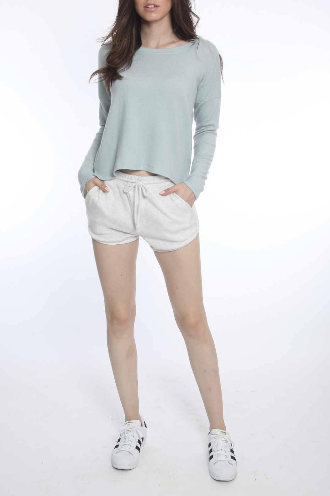 River + Sky  Long Sleeve Soft Knit Top - Main Image