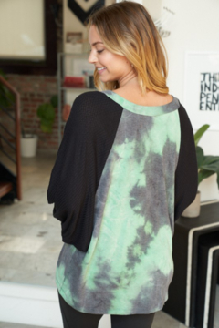 White Birch  Long Sleeve Solid and Tie Dye Waffle Knit Top - Alternate List Image