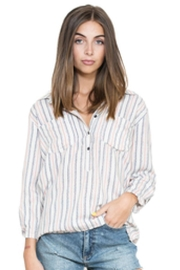 En Creme Long-Sleeve Stripe Top - Product Mini Image