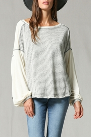 By Together Long Sleeve Striped Top - Product Mini Image