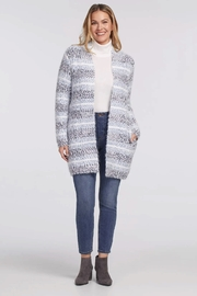 tribal  Long Sleeve Sweater Cardigan - Front cropped