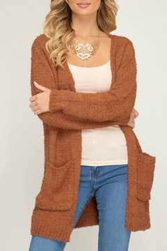 She + Sky Long-Sleeve Sweater Cardigan with Pockets - Product List Image