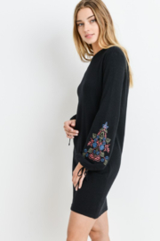 Papercrane Long Sleeve Sweater Dress with Embroidery - Other