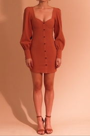 Selfie Leslie Long-Sleeve Tan Dress - Product Mini Image