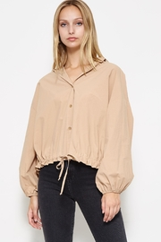 etophe studios Long-Sleeve Taupe Top - Product Mini Image