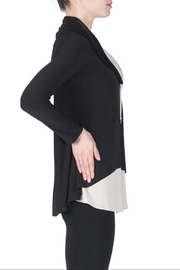 Joseph Ribkoff  Long sleeve two tone turtleneck tunic - Product Mini Image