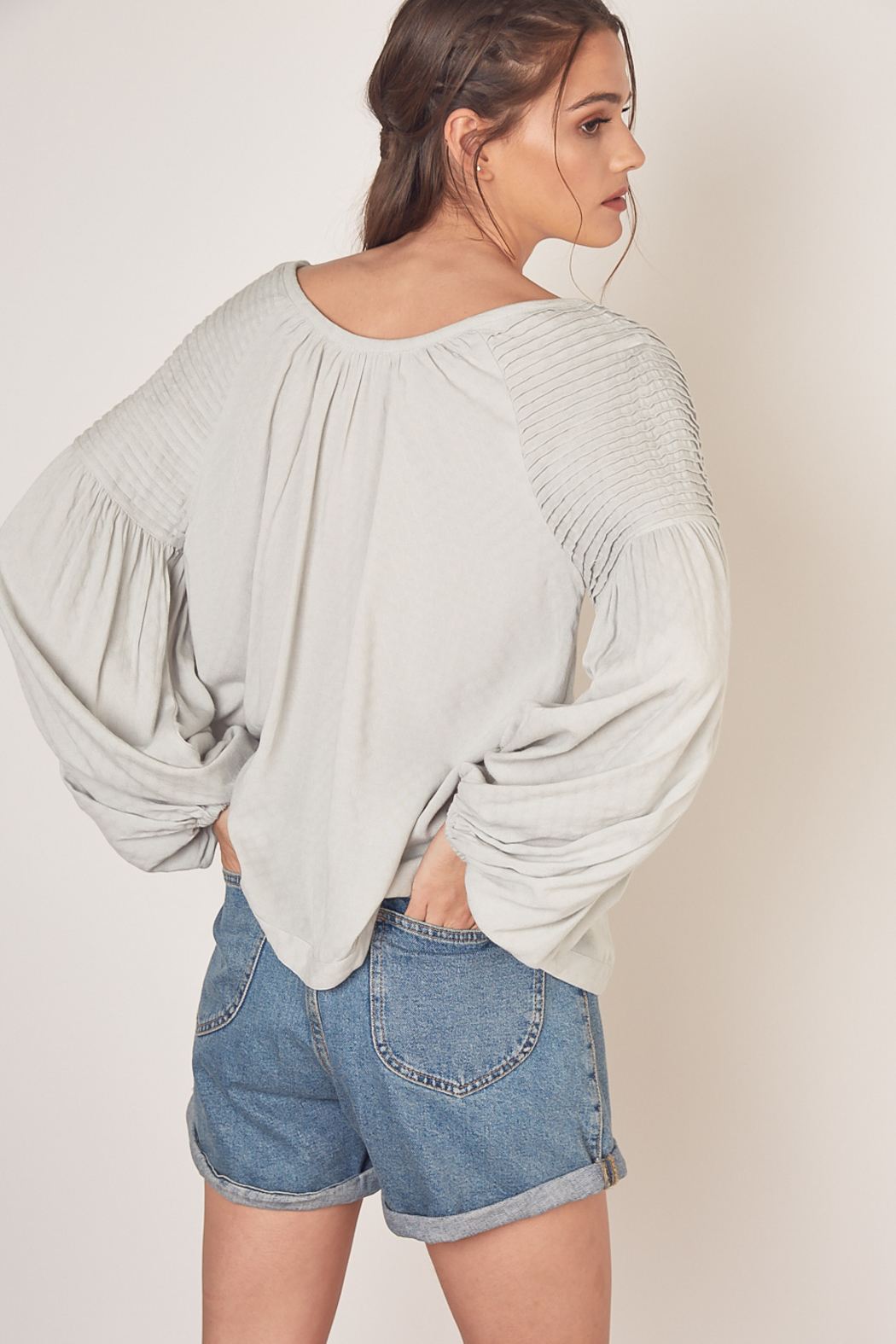 Mustard Seed  Long Sleeve Top - Back Cropped Image