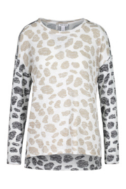 Tribal  Long Sleeve Top W/Combo Print - Front cropped