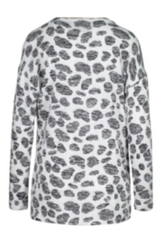 Tribal  Long Sleeve Top W/Combo Print - Front full body