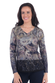 Clotheshead Long Sleeve Top w/Lace - Product Mini Image