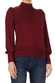Elan  Long Sleeve top with Puff Shoulder - Product Mini Image