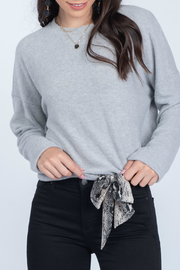 Everly Long sleeve top with sash - Product Mini Image