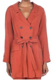 Current Air Long sleeve trench coat - Product Mini Image