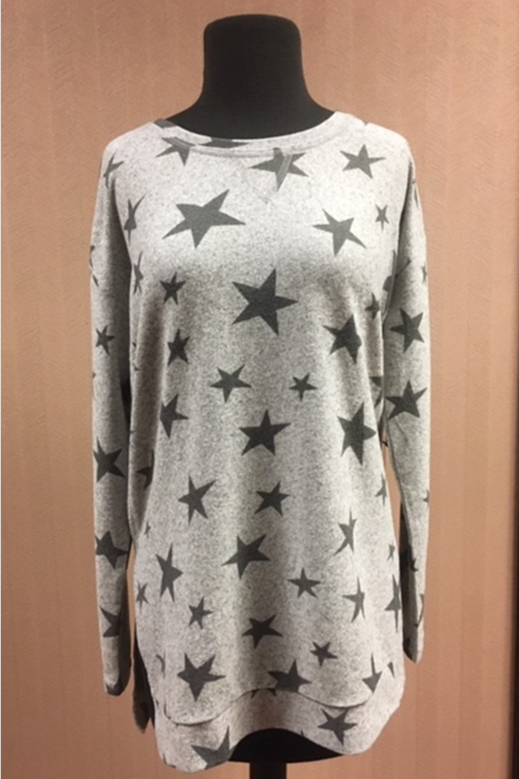 Tribal  Long Sleeve Tunic With Stars - Main Image