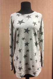 Tribal  Long Sleeve Tunic With Stars - Front cropped