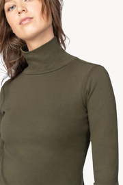 Lilla P Long Sleeve Turtleneck Top - Front full body