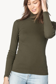 Lilla P Long Sleeve Turtleneck Top - Back cropped