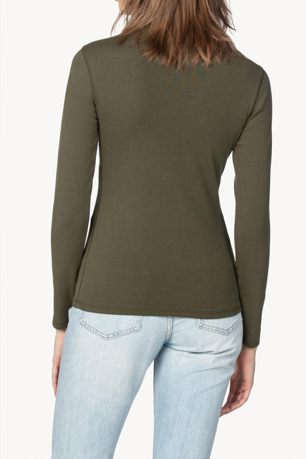 Lilla P Long Sleeve Turtleneck Top - Side Cropped Image