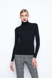 Picadilly Long Sleeve Turtleneck Top - Front cropped