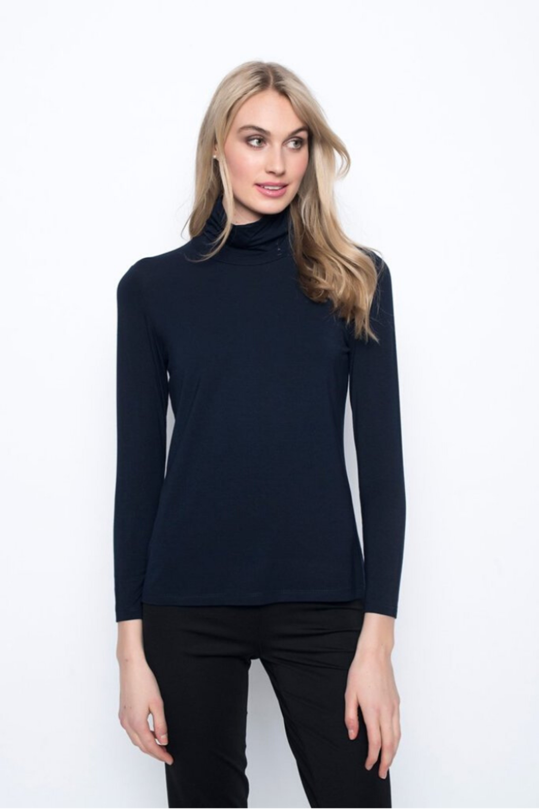 Picadilly Long Sleeve Turtleneck Top - Front Cropped Image