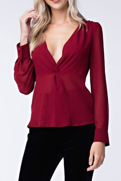 Shoptiques Product: Long-Sleeve Twist-Front Blouse
