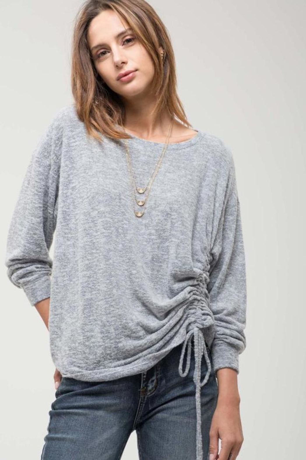 Blu Pepper Long-Sleeve Twist Top - Front Cropped Image
