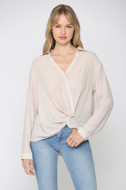 Fate  Long Sleeve Twisted Front Top - Product Mini Image