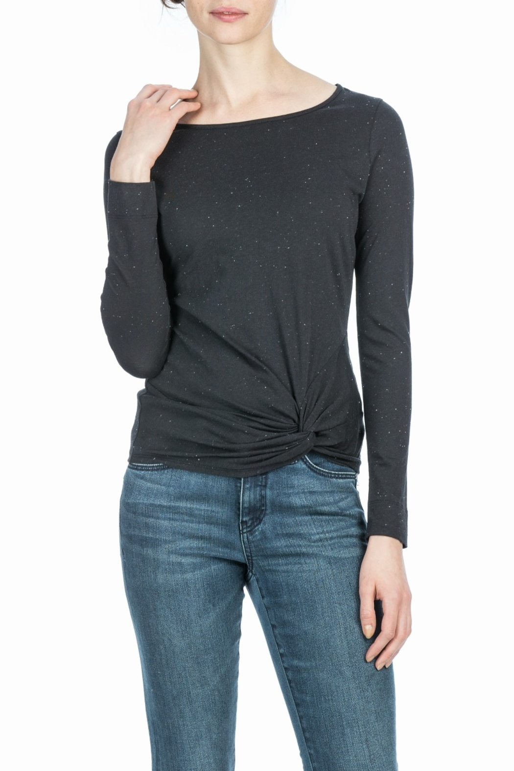 Lilla P Long Sleeve Twisted Top - Front Cropped Image