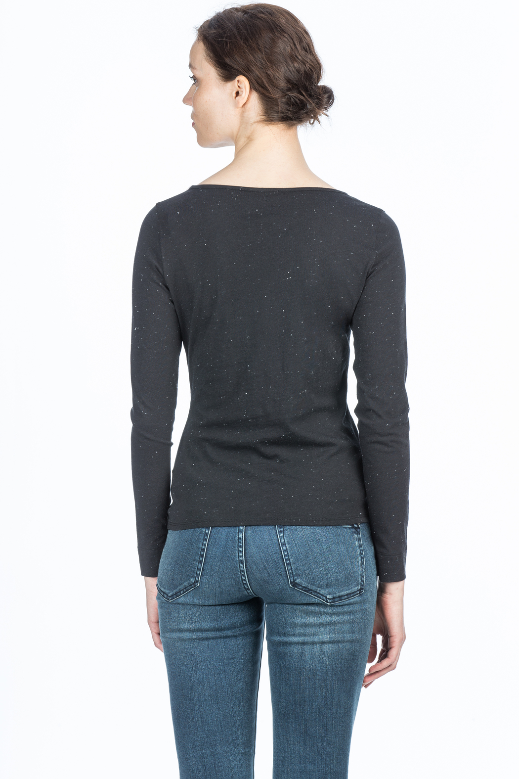 Lilla P Long Sleeve Twisted Top - Back Cropped Image