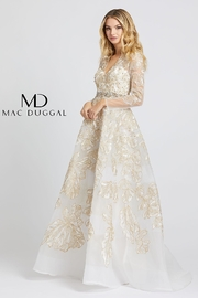 Mac Duggal Long Sleeve V-Neck Gown - Product Mini Image
